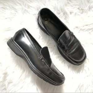 Coach classic black loafers size 6
